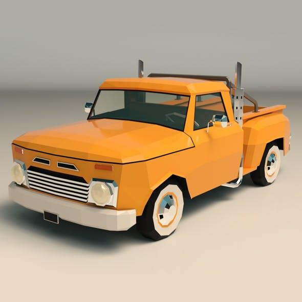 Low Poly Vintage Pickup 03 - 3DOcean Item for Sale
