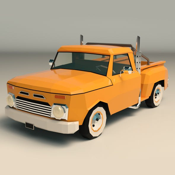 Low Poly Vintage Pickup 03