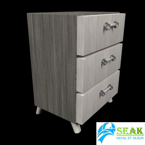 Wooden Commode - 3DOcean Item for Sale