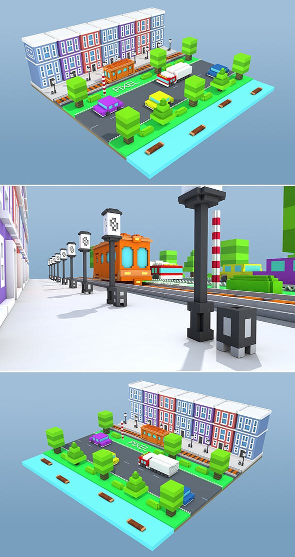 Pixel City - 3DOcean Item for Sale