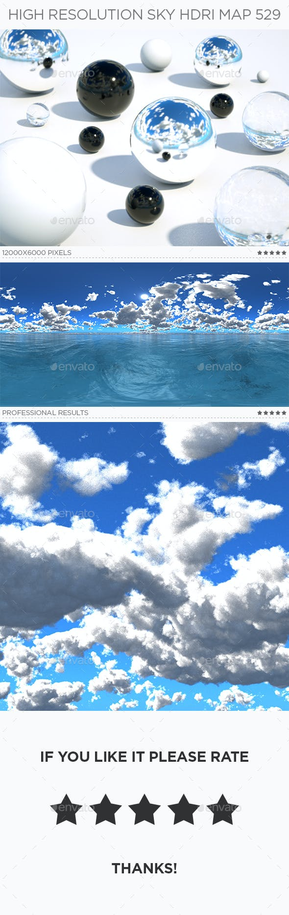 High Resolution Sky HDRi Map 529 - 3DOcean Item for Sale