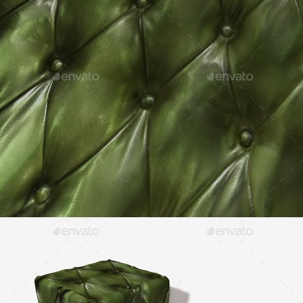 Green Leather Padding Seamless Texture