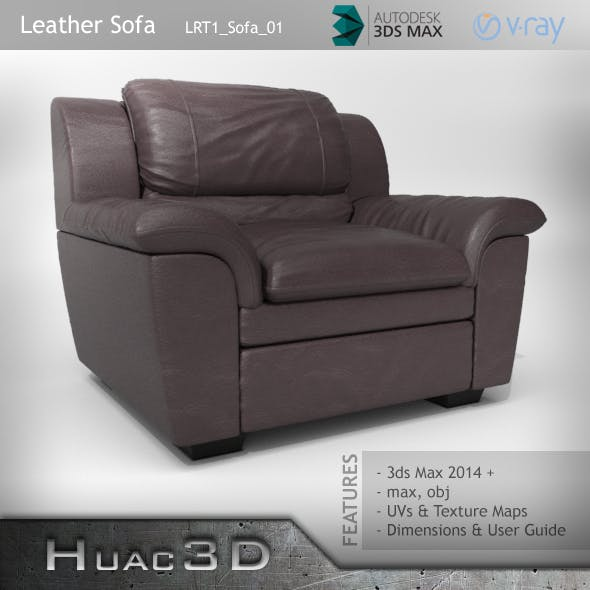 Leather Sofa (LRT1_Sofa_01) - 3DOcean Item for Sale