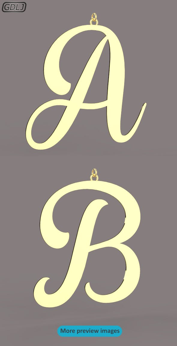 A-Z Large letters without jewelry - 3DOcean Item for Sale