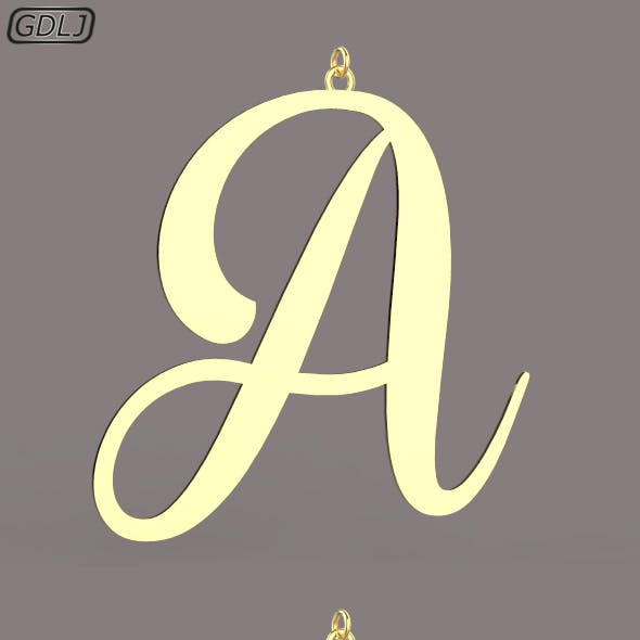 A-Z Large letters without jewelry