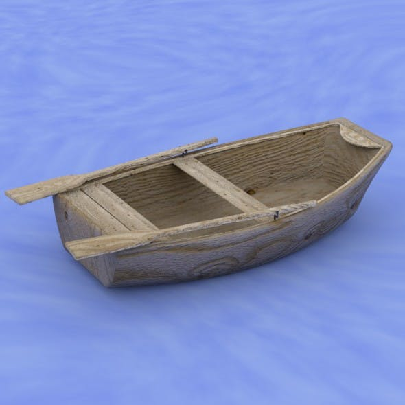 Wooden boat - 3DOcean Item for Sale