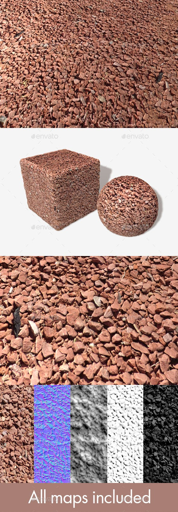 Dry Red Desert Ground Seamless Texture - 3DOcean Item for Sale