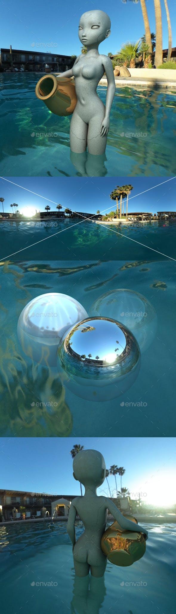Early Morning Pool HDRI - 3DOcean Item for Sale
