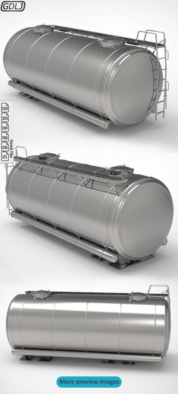 Tank trailer - 3DOcean Item for Sale