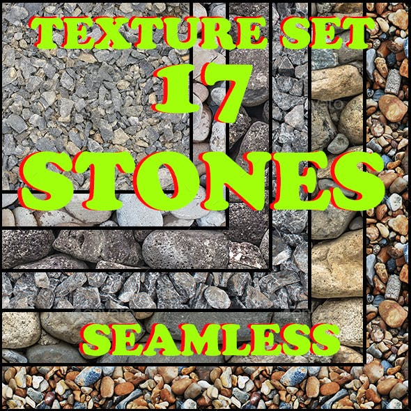 Set of seamless stone textures - 3DOcean Item for Sale