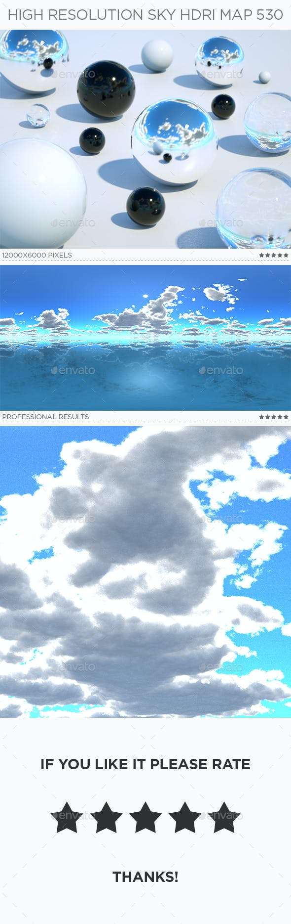 High Resolution Sky HDRi Map 530 - 3DOcean Item for Sale