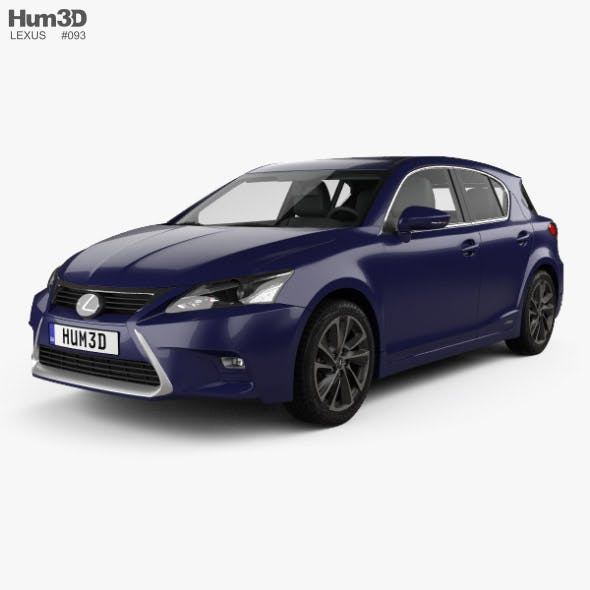 Lexus CT Hybrid Prestige 2018 - 3DOcean Item for Sale