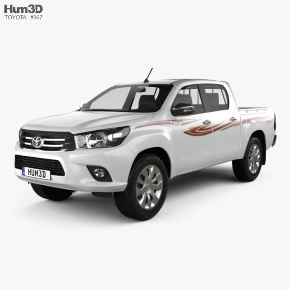 Toyota Hilux Double Cab GLX 2015 - 3DOcean Item for Sale