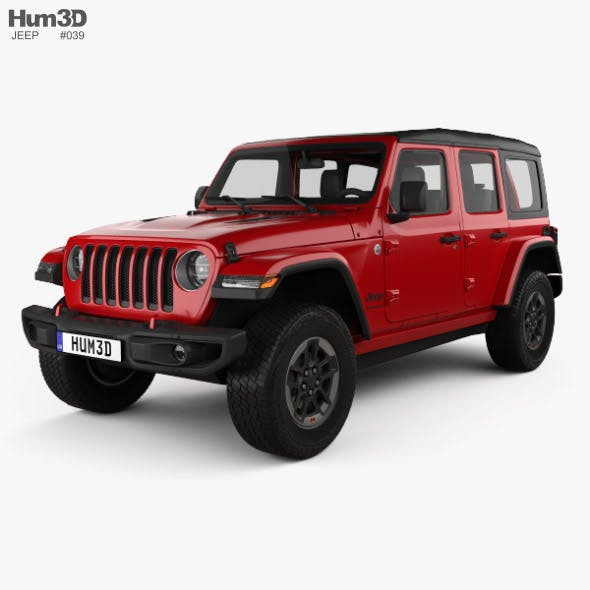 Jeep Wrangler 4-door Rubicon 2018 - 3DOcean Item for Sale