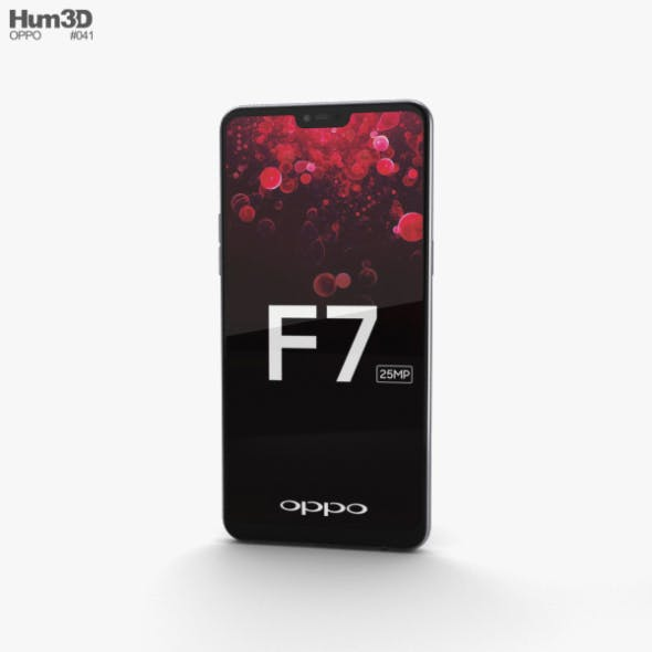 Oppo F7 Moonlight Silver - 3DOcean Item for Sale
