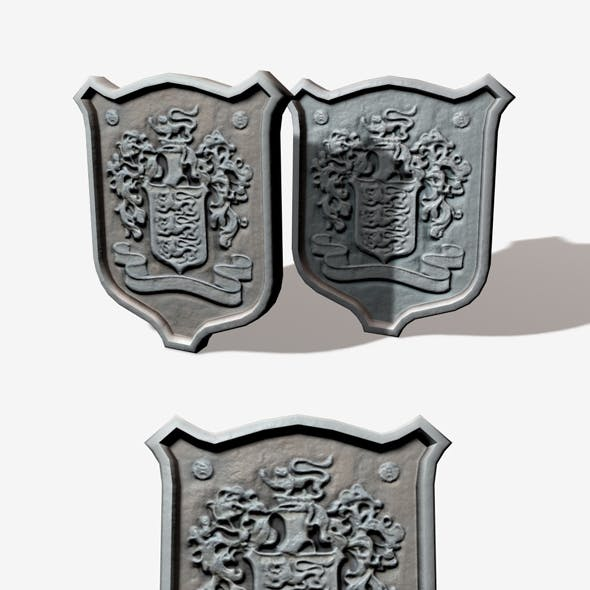 Low Poly Stone Crest