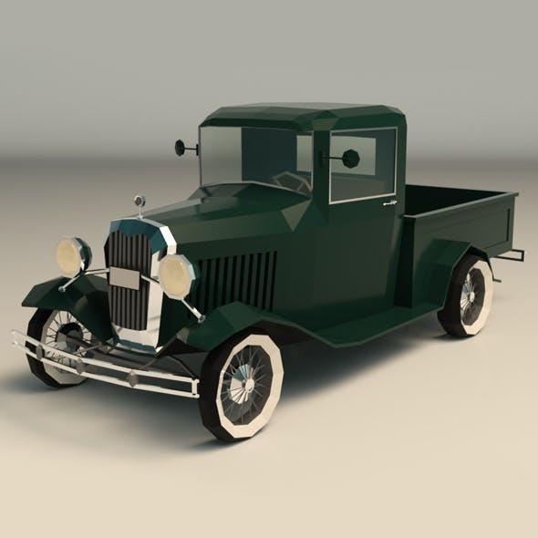 Low Poly Vintage Pickup 04
