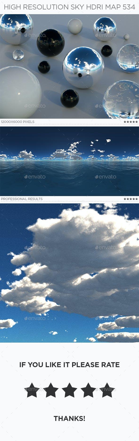 High Resolution Sky HDRi Map 534 - 3DOcean Item for Sale