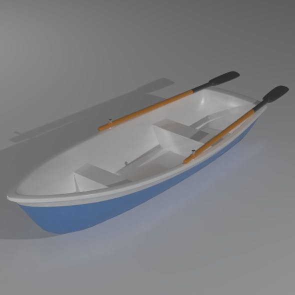 Plastic boat - 3DOcean Item for Sale