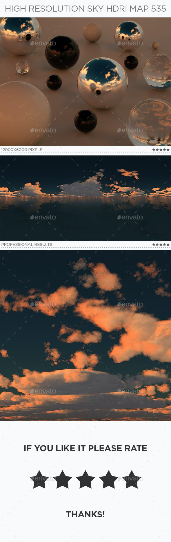 High Resolution Sky HDRi Map 535 - 3DOcean Item for Sale