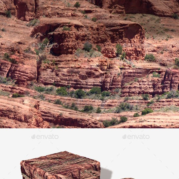 Red Rock Cliffs Seamless Texture