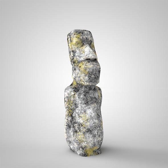3D Moai statue.