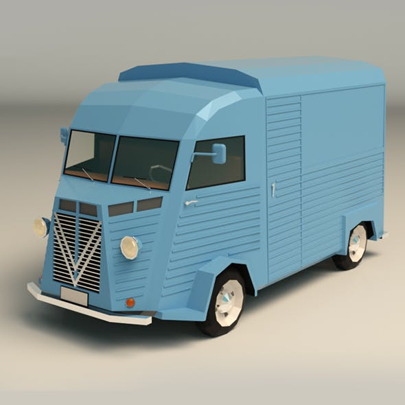 Low Poly Van Transporter 02