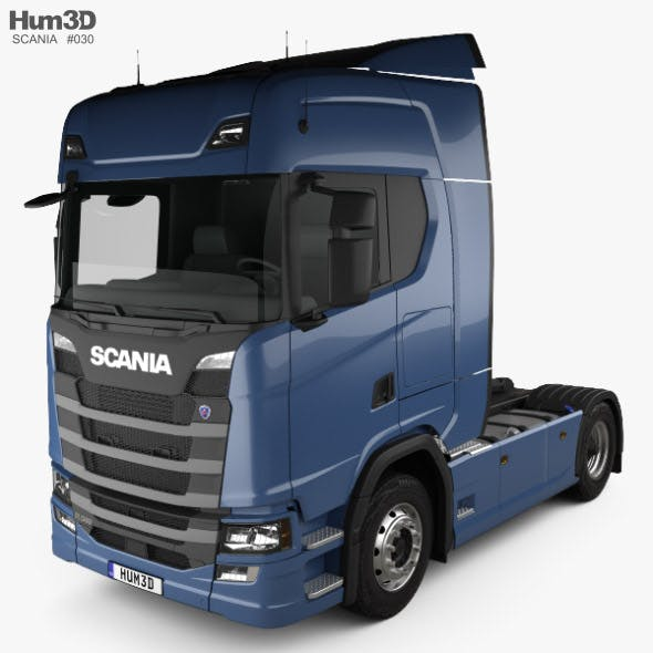 Scania R Highline Tractor Truck 2-axle 2016 - 3DOcean Item for Sale
