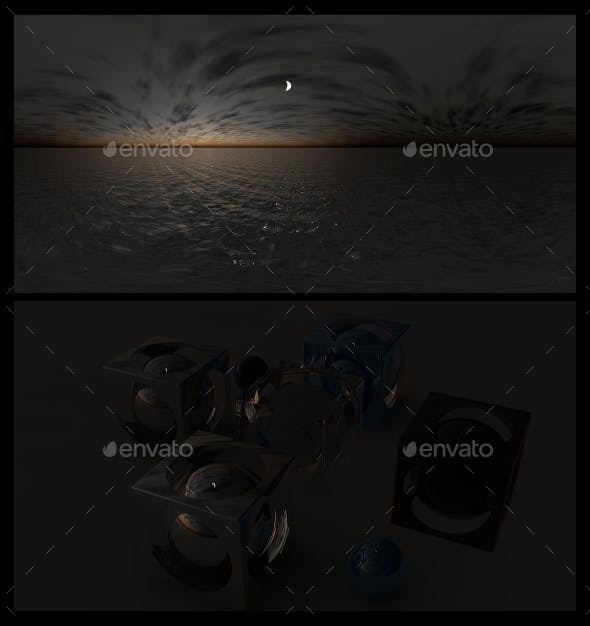 Ocean Night 8 - HDRI - 3DOcean Item for Sale