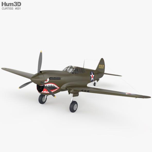 Curtiss P-40 Warhawk - 3DOcean Item for Sale