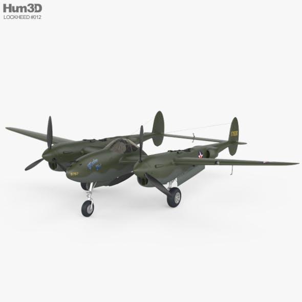Lockheed P-38 Lightning - 3DOcean Item for Sale