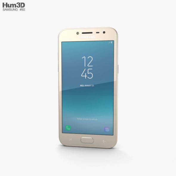 Samsung Galaxy J2 Pro Gold - 3DOcean Item for Sale