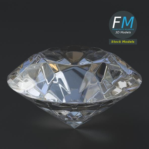 Stylized diamond - 3DOcean Item for Sale