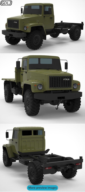 GAZ 3308 Sadko - 3DOcean Item for Sale