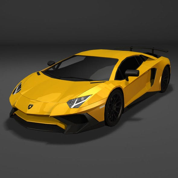 Lamborghini Aventador LP 750-4 Superveloce (Low Poly) - 3DOcean Item for Sale