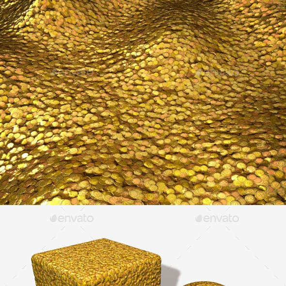 Cartoon Gold Coins Seamless Texture
