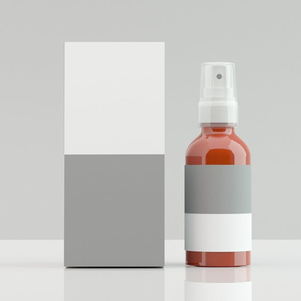 Cleanser bottle with Box - 3DOcean Item for Sale
