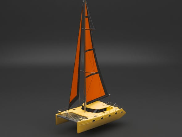 sailing boat - 3DOcean Item for Sale