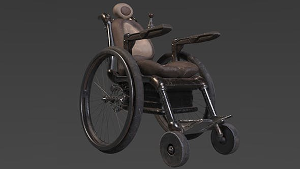 Animated AAA Wheelchair - 3DOcean Item for Sale