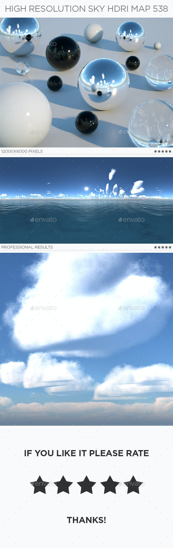 High Resolution Sky HDRi Map 538 - 3DOcean Item for Sale