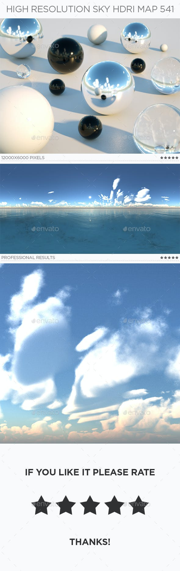 High Resolution Sky HDRi Map 541 - 3DOcean Item for Sale