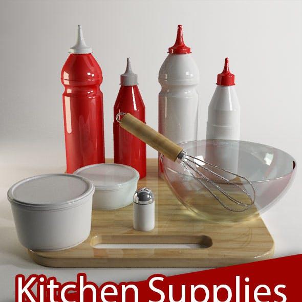 Kitchen Supplies in cinema4d&vray