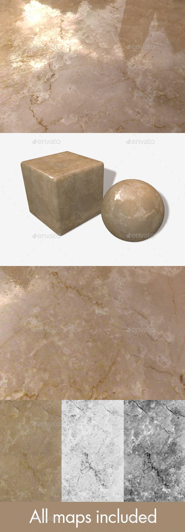Warm Marble Seamless Texture - 3DOcean Item for Sale
