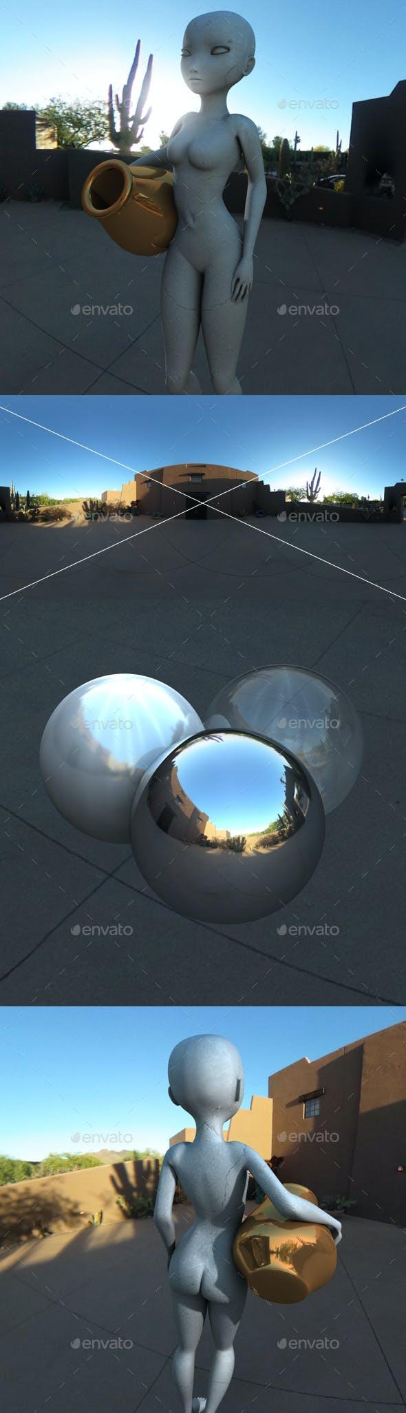 Desert Courtyard HDRI - 3DOcean Item for Sale