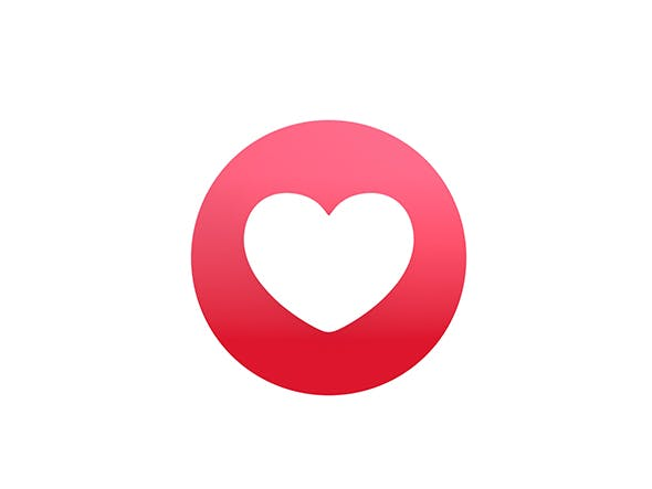 Animated Facebook Love Reaction Button - 3DOcean Item for Sale
