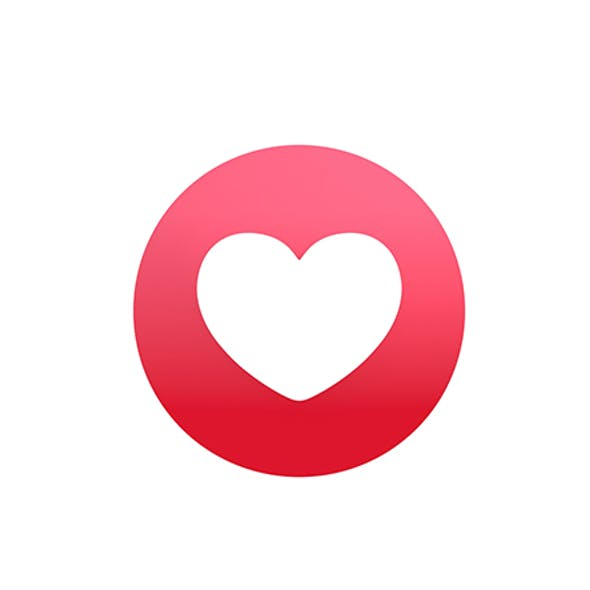 Animated Facebook Love Reaction Button