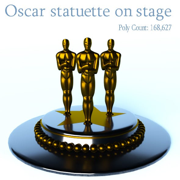 Oscar statuette on stage