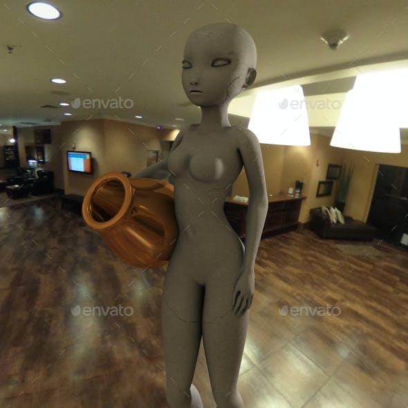 Nighttime Hotel Lobby HDRI