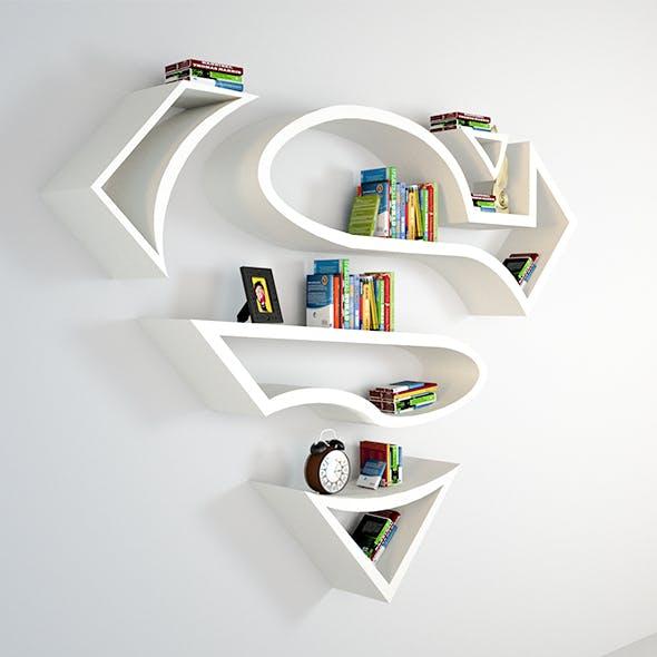 Superman BookShelf - 3DOcean Item for Sale