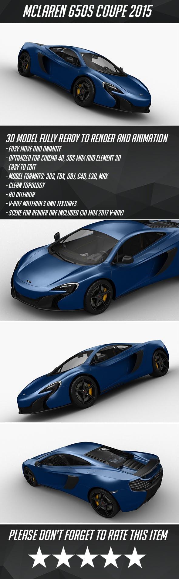 McLaren 650S Coupe 2015 - 3DOcean Item for Sale